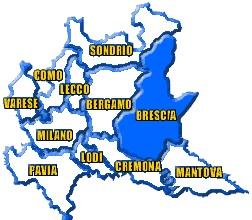CARTINA BRESCIA PROVINCIA RG18L1536N